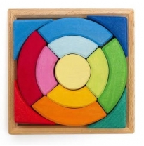 Glückskäfer - wooden circular puzzle in tray, 13 pieces