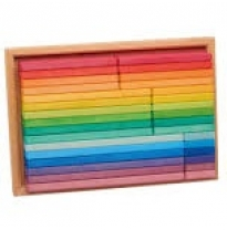 Glückskäfer - rainbow building slats, 32 piece set