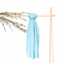 waldorf - bamboo muslin play cloth, blue