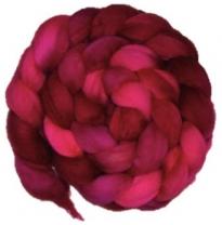 Kathy's Fibres - merino rovings, lipstick