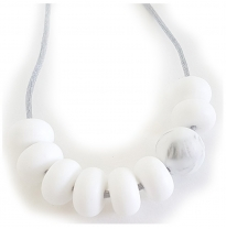 Indi & Frey - necklace, adore white