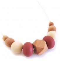Indi & Frey - necklace, moxi marsala