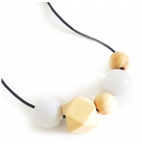 Indi & Frey - necklace, orbit white