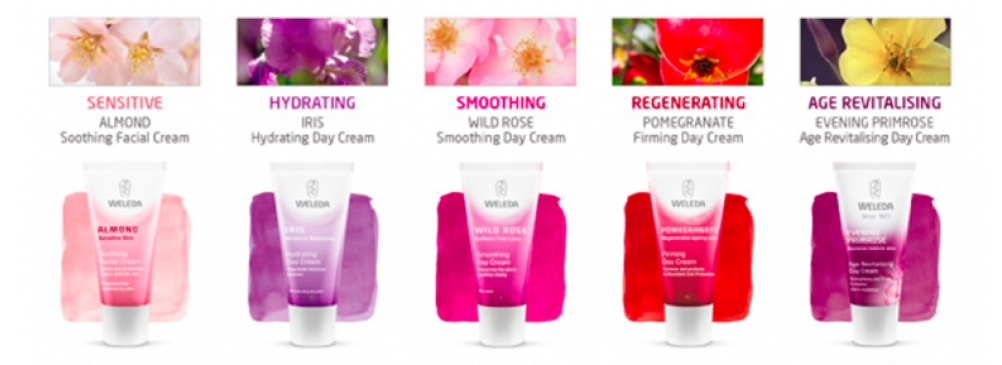 weleda face creams